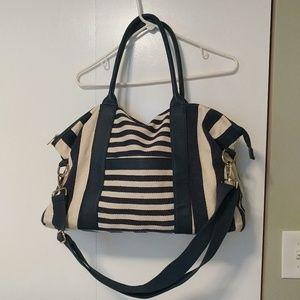 Beautiful Merona canvas tote bag navy blue